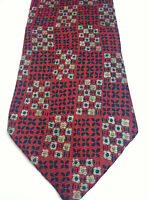 BROOKS BROTHERS MENS TIE RED WITH BLUE GOLD 4 X 60