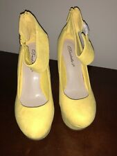 Breckelle's Yellow Suede Wedge Platforms - Cilo-61S - Size 6