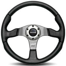 """MOMO """"RACE"""" 350mm Steering Wheel Black Leather (RCE35BK1B)"""