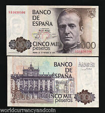 SPAIN 5000 PESETAS P160 1979 *REPLACEMENT 9A* EURO KING JUAN CURRENCY MONEY NOTE