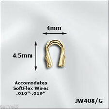 "Gold Plated Wire Guards .021"" (10) Protects Jewelry Wire"
