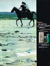 PUBLICITE ADVERTISING  1968   CHERAMY  parfum ESPACE