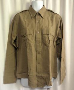 Flying Cross Distinguished Service Shirt Size 16.2-5 Tan Uniform Shirt U.S.A