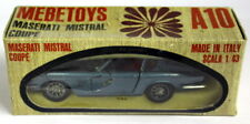 Mebetoys 1/43 Scale Vintage A-10 Maserati Mistral Coupe Light Blue Model car