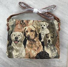 NEW SIGNARE Tapestry Dog Breeds Puppy Handbag Bag Purse X Long Strap