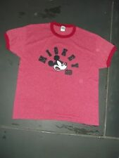 """MICKY MOUSE, DISNEY """"T""""  shirt retro look, size XL RED Tee"""