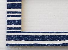 Cadre photo 13x18 bois tissu blanc bleu déco marine mer fabr. Bretagne Neuf