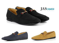 Mens Suede Smart Casual Shoes Moccasins Italian Fashion Slip On Loafers UK Sizes