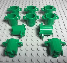 Lego X10 Pc. New Green Trash Can Container / Dustbin / City Street Parts Lot