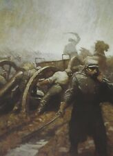 Vintage Art NC Wyeth Road to Vidalia Battle 1910 Confederate Soldier Civil War