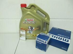 MAHLE Ölfilter, Luftfilter und 5Ltr. CASTROL 5W30 Motoröl Opel Astra J