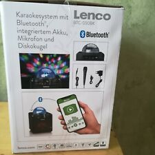 Lenco Karaokesystem mit Bluetooth intergriertem Akku Mikrofon und Discokugel Neu