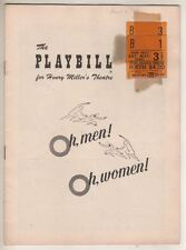 """Oh, Men! Oh, Women!""   Playbill   1954  Franchot Tone, Gig Young, Larry Blyden"