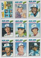 1977 Topps Major Leagues Baseball Cards Toronto Blue Jays Set of 15 Cards