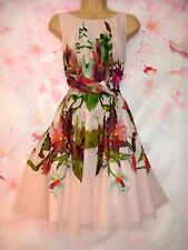 TED BAKER 'Carlii Symmetrical Orchid' Occasion Dress  8 (Ted Size 1) - Gorgeous!