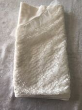 Christening Blessing Baptism Baby Off White Blanket With Lace And Tulle 32x30 In