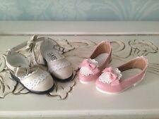 2 pairs Luts BJD shoes 1/4 MSD size Kid Delf sweet lolita pink cream