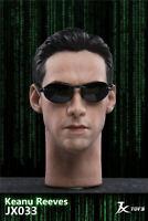 Male Head Sculpt1/6 JXTOYS JX033 Matrix Imperial Neo Keanu Reeves  F 12'' figure