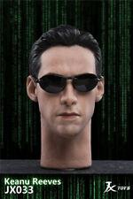 1/6 JXTOYS JX033 Matrix Imperial Neo Keanu Reeves Male Head Sculpt Fit 12'' Doll