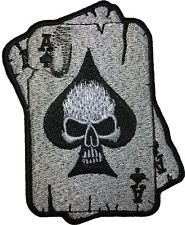 Ace of Spades Skull Ghost Poker Card Motorcycle Biker Costume Sew Iron on Patch