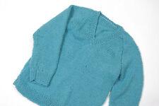 L151/44 Hand Knit Teal Woolen Jumper  ,age 4