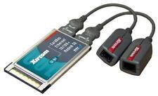 Xircom CardBus 10/100 Ethernet LAN+Modem 56k PC Card CBEM56G-100 w/Dongle Cables