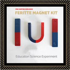FERRITE MAGNET KIT for Education Science Experiment Teaching U Horse-shoe / Bar