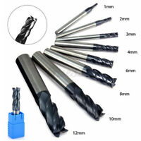 12mm 4 Flutes Carbide End Mill Set Tungsten Steel Milling Cutter Tool H Q