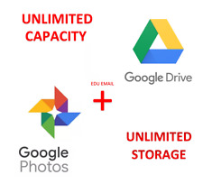 Unlimited Google PHOTOS Storage+Google DRIVE (NEW EDU EMAIL) - /UNLIMITED GMAIL/