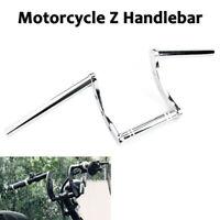 """25mm 1"""" Chrome Handlebar Z Drag Bar For Harley Honda Yamaha Suzuki Bobber"""