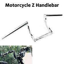 "25mm 1"" Chrome Handlebar Z Drag Bar For Harley Honda Yamaha Suzuki Bobber"