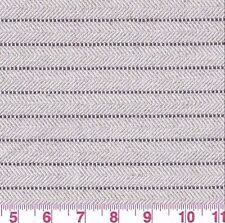 Gray White Striped Herringbone Woven Upholstery Fabric Constantine Cotton Bty