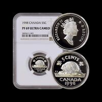 1998 Canada 5 Cents (Silver) - NGC PF69 UC - Top Pop 🥇 SCARCE
