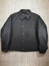 ENGINEERED GARMENTS NA2 DECK JACKET, MEN'S LARGE, DEAD STOCK, GREY QUILTED BLACK