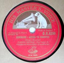 78 rpm RECORD  N-:  English Issue: PIERRE BERNAC -Au Rossignol & Quand Tu Chante