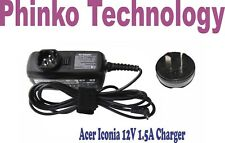 12V 1.5A AC Adapter Charger For Acer Iconia A500 A501 A100 A101 A200 Tab Tablet