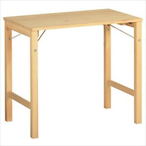 "MUJI Table wooden compact Assembly Type folding W31""  D19""  H27"" carry desk work"