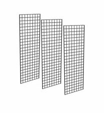Only Hangers 1900BLK - 3PCS Grid Panel for Retail Display 3 Grids Per Carton - Black