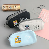 Students Large Capacity Big Zip Pen Pencil Case School Stationery Cosmetic Bag
