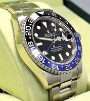 Rolex GMT-MASTER II 116710 BLNR BATMAN Black/Blue Ceramic Bezel BOX/PAPER *MINT*