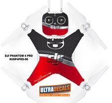 Red / Black Honeycomb DJI Phantom 4 Pro Skin Wrap Decal Sticker Battery Body