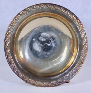 "Vintage WM Rogers Silverplate ""Spring Flower"" Small 7 1/4"" Bowl"