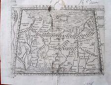 bi8-8 RARE Gravure carte 16e siècle Asia Antiqua Asie antique
