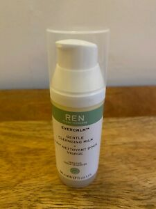 REN Evercalm Gentle Cleansing & Soothing Multi-action Milk 2 x 50ml NEW