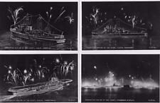 4 Coronation Review of the Fleet unused RP pcs Valentines Ref D369