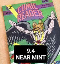 #180 THE COMIC READER FANZINE 1980 HAWKMAN-ADAM STRANGE Cover Artwork