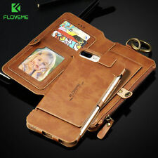 Genuine Leather Flip Wallet Phone Case Cover for Samsung Galaxy iPhone XS 8 7 6s
