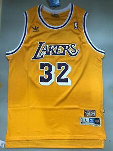 New Earvin Magic Johnson Los Angeles Lakers Throwback Swingman Jersey Yellow