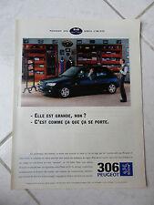 Publicité Peugeot 306 Eden Park 1995 advert presse coupure publicitaire
