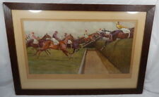 Cecil Aldin Grand National The First Open Ditch Signed Artists Proof Horse